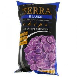 Chips gourmets de pommes de terre bleues naturelles