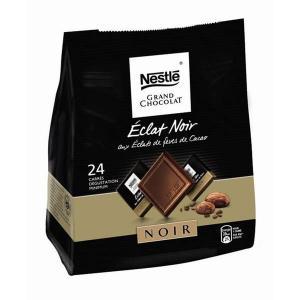 Grand Chocolat - carrés éclat noir