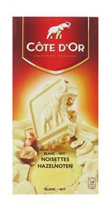 Chocolat blanc aux noisettes