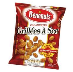 Cacahuètes grillées à sec