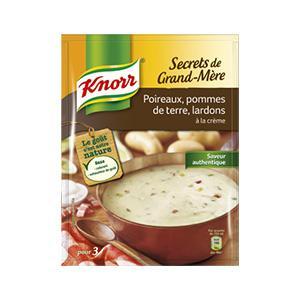 Les Secrets de Grand-Mère Poireaux, Pommes de terre, Lardons, à la crème