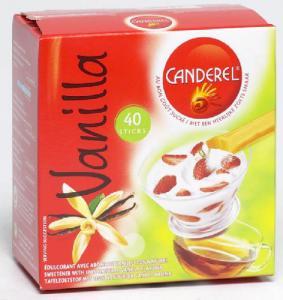 Nouveau  sticks sucre Canderel Vanille