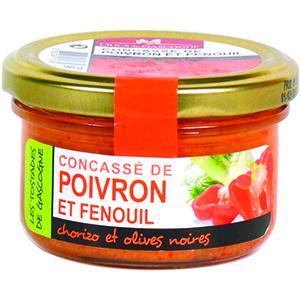 Concassé de poivron et fenouil