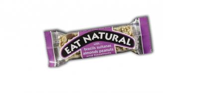 Barre de Céréales Eat Natural noix du brésil,  raisins secs, amandes