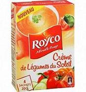 Soupe Minute Crème de Légumes du Soleil de Royco